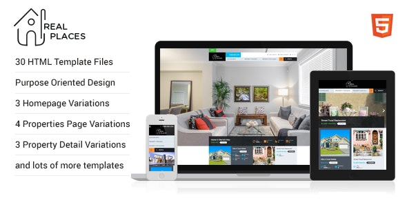 RealPlaces - HTML5 Template - Miscellaneous Site Templates