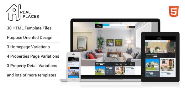 RealPlaces - HTML5 Template - Miscellaneous Site Templates