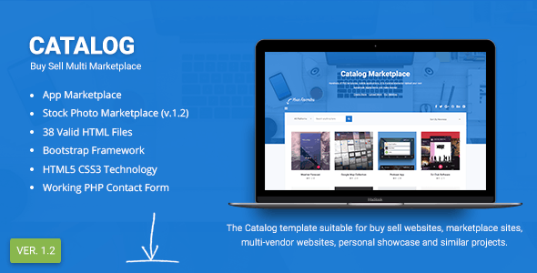 Catalog | Buy Sell / Marketplace Responsive Site Template - Marketing Corporate