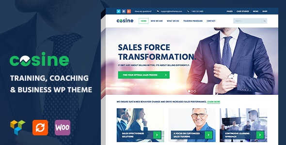 Cosine - Training & Coaching WordPress Theme - Business Corporate