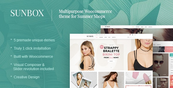 Sunbox Summershop Multipurpose WooCommerce WordPress Theme - WooCommerce eCommerce