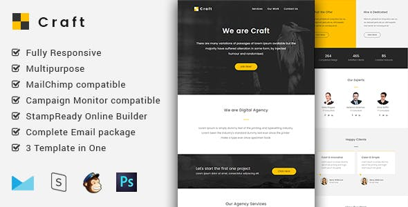 Craft - Complete Email Package - Responsive Templates + Builder