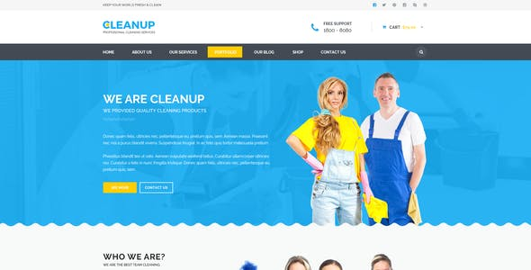 CleanUp - Professional Cleaning Services HTML Template