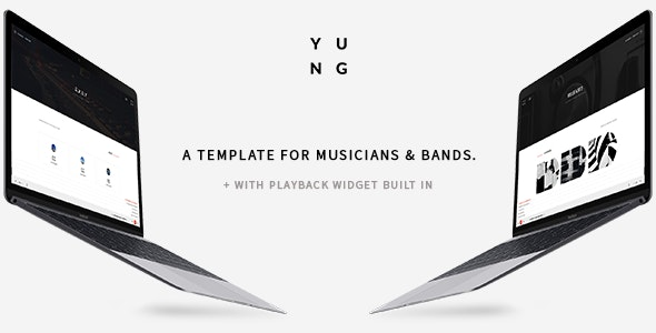 Y.U.N.G - Music Producer & DJ Bootstrap Template - Music and Bands Entertainment