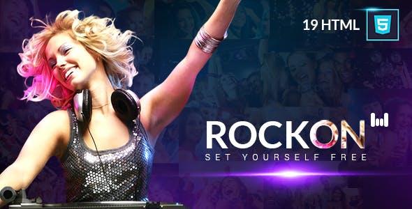 Music Club - Rockon Website HTML Template
