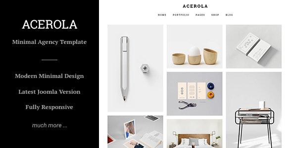 Acerola - Ultra Minimalist Agency, Portfolio & Photography Joomla Template - Portfolio Creative