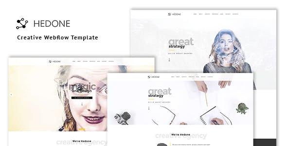 Hedone - Creative Webflow Template