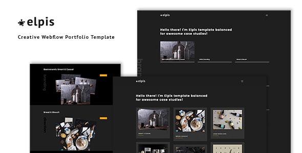 Elpis - Creative Webflow Portfolio Template - Webflow CMS Themes