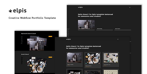 Download Elpis - Creative Webflow Portfolio Template