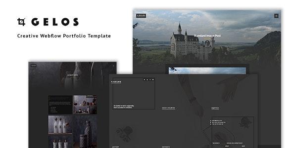 Gelos - Creative Webflow Portfolio Template - Webflow CMS Themes