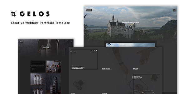 Download Gelos - Creative Webflow Portfolio Template
