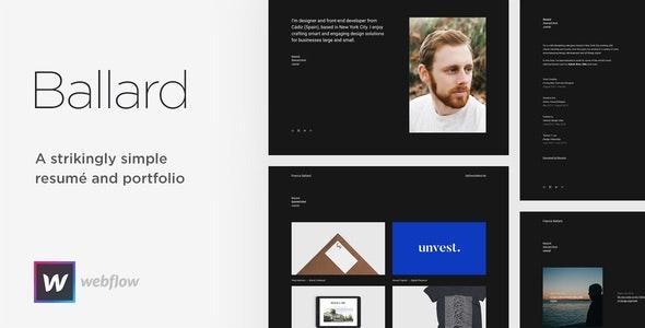 Ballard - Personal Portfolio & CV Webflow Theme - Webflow CMS Themes