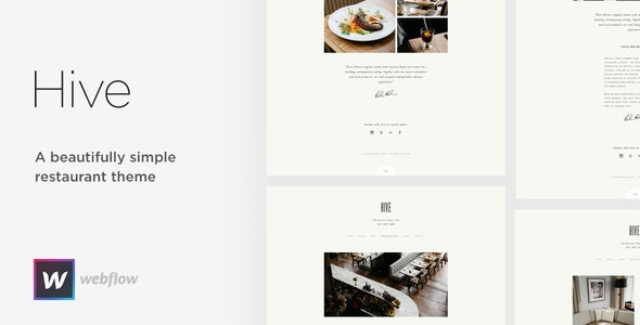Hive - Restaurant & Cafe Webflow Template - Webflow CMS Themes