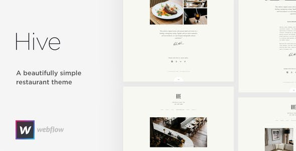 Download Hive - Restaurant & Cafe Webflow Template