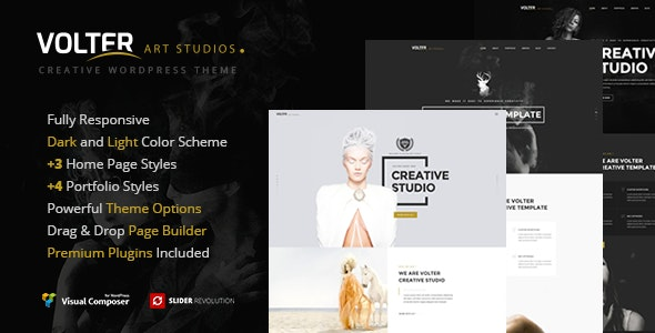 Volter - Responsive Creative & Minimal Wordpress Theme - Creative WordPress