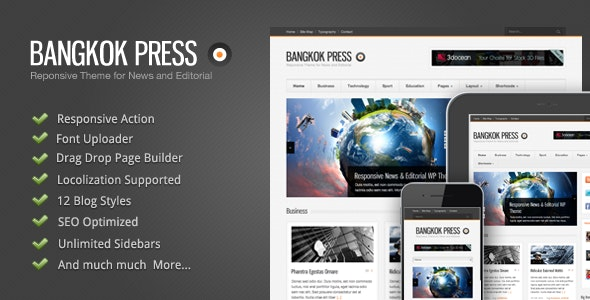 Bangkok Press - Responsive, News & Editorial Theme - News / Editorial Blog / Magazine