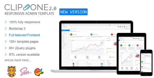 Clip-One - Bootstrap 3 Responsive Admin Template