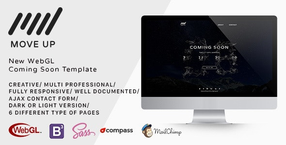 Move Up Coming Soon WebGL Template - Under Construction Specialty Pages