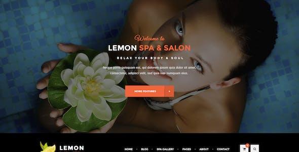 Lemon - Spa and Beauty PSD Template