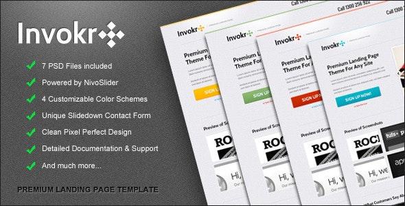 Invokr Premium Landing Page - Marketing Corporate