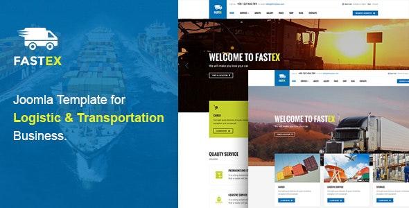 Logistics Joomla Template | FastEx - Business Corporate