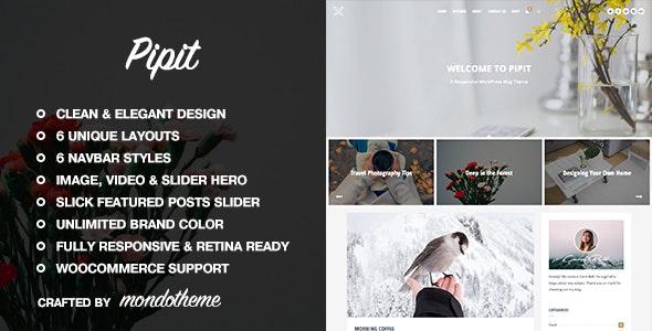 Pipit - A Responsive WordPress Blog Theme - Personal Blog / Magazine