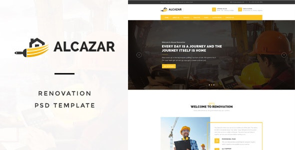 Alcazar - Renovation & Building PSD Template - Business Corporate