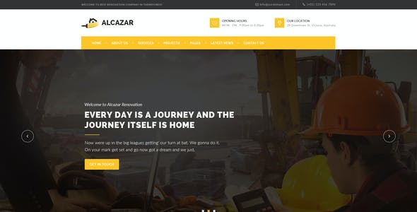 Alcazar - Renovation & Building PSD Template