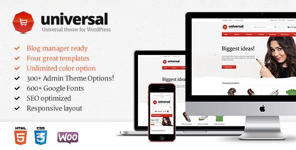Universal - Premium WordPress Theme - WooCommerce eCommerce