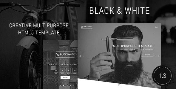 Black&White - Creative Multipurpose HTML Template - Creative Site Templates