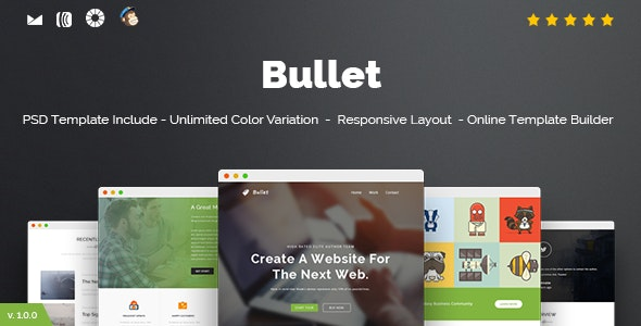 Bullet - Responsive Email + Online Template Builder - Newsletters Email Templates