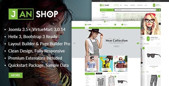 Vina JanShop - Responsive VirtueMart Template - VirtueMart Joomla
