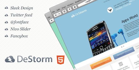 DeStorm Premium Landing Page - Landing Pages Marketing