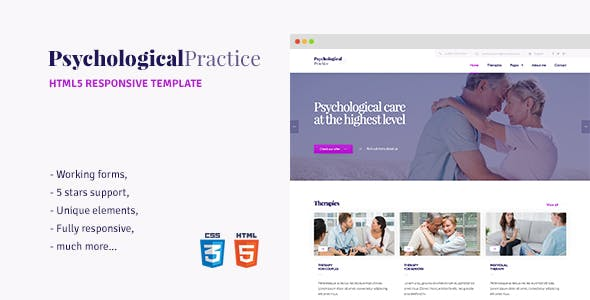 Psychology - HTML5 template for Psychological Practice