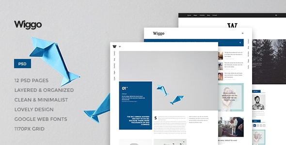 Wiggo - Multi-Concept PSD Theme - Photoshop UI Templates