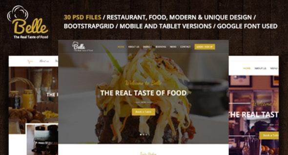 Belle - Food & Restaurant PSD Template - Food Retail