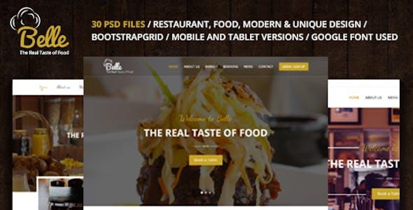 Belle - Food & Restaurant PSD Template