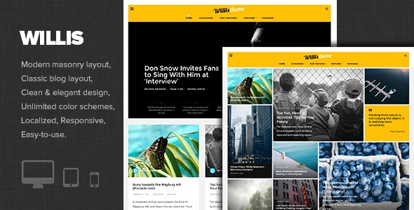 Willis - Modern Personal Blog Theme - Personal Blog / Magazine