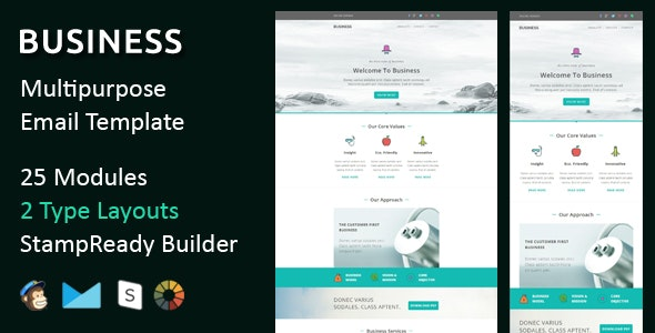 Business - Multipurpose Responsive Email Templates - Email Templates Marketing