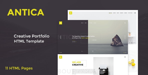 Antica — Multipurpose Business Agency/Personal Portfolio HTML Template - Business Corporate