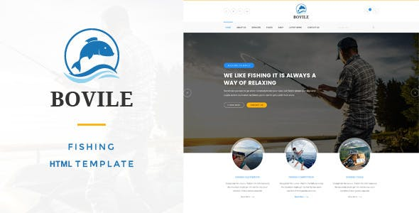 Bovile - Fishing HTML Template
