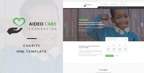 Aideo - Non-Profil Charity HTML Template