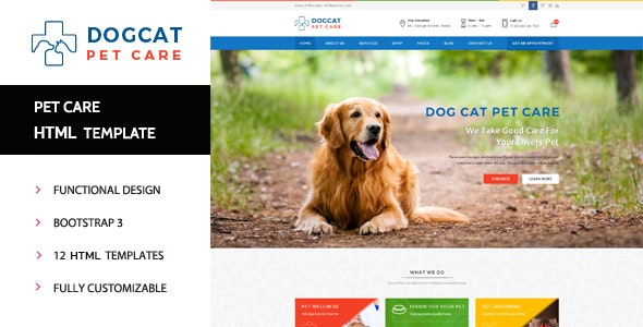 Pet Care - Veterinary HTML Template by PremiumLayers