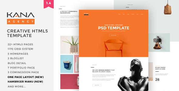 Kana - Creative Agency HTML5 Template - Creative Site Templates