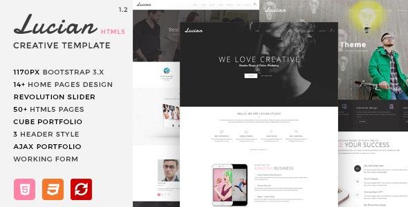 Lucian - Multi-Concept Creative HTML5 Template - Creative Site Templates