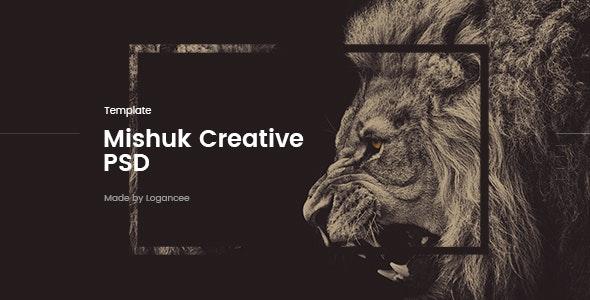 Mishuk - Creative PSD Template - Creative Photoshop