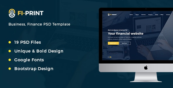 Fi-Print – Business, Finance PSD Template - Business Corporate