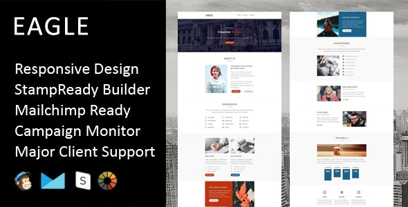 Eagle - Multipurpose Responsive Email Template + Stampready Builder - Email Templates Marketing
