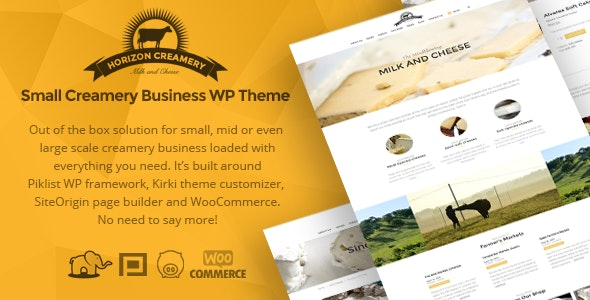 Horizon Creamery - WP business theme - Business Corporate