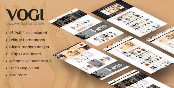 Vogi - Multi-Purpose eCommerce PSD Template - Retail Photoshop